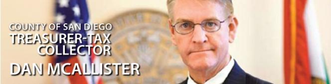 JAN 20 – General Meeting – Dan McAllister – San Diego County Treasurer-TaxCollector